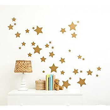 Little Love By NoJo Separates Collection Star Wall Decals, Metallic Gold