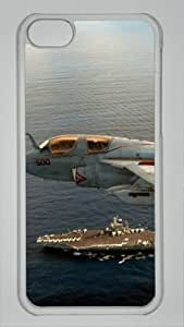 Iphone 5C PC Hard Shell Case Aircraft and the Ship Transparent Skin by Sallylotus