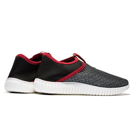 Casual Mesh red Shoes amp;Women Breathable Aqua Beach Lightweight Grey Fengda Outdoor Walking Loafer Men xzqUgU
