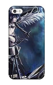 DbaAePI7258JvyxO Case Cover, Fashionable Iphone 5/5s Case - Black Rock Shooter