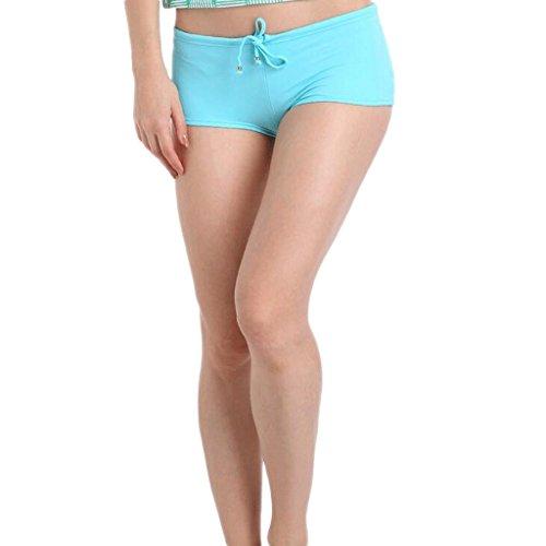 Bañadores de natación de color de moda Triángulo de gran tamaño de ángulo plano Bañadores de natación traje de baño Spa Traje de baño de playa Azul