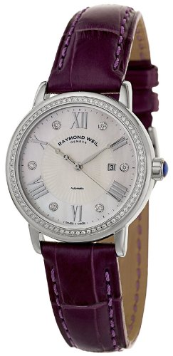 Raymond Weil Maestro Automatic Stainless Steel & Diamond Womens Watch 2637-SLS-00966