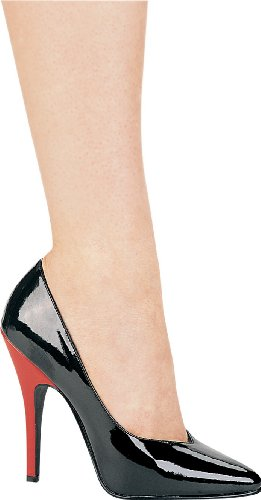 Ellie Shoes Womens 8220 Dress Pump Nero / Rosso