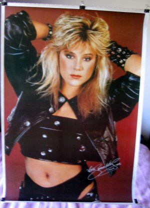 Samantha Fox sexy red orig POSTER from the 80s way OOP 21.5 x 31.5:  Amazon.co.uk: Kitchen & Home