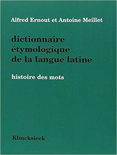 Ernout & Meillet cover