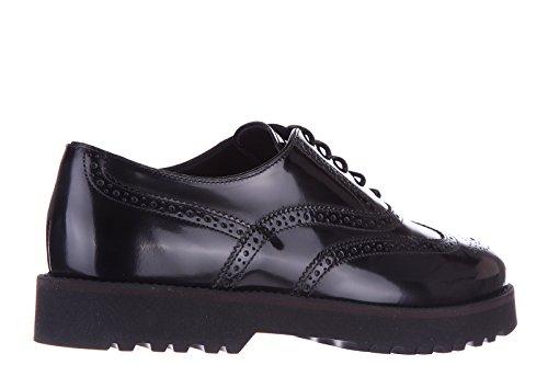 Hogan Vrouwen Schoenen Vrouwen Lederen Zakelijke Schoenen Lace Brogue Zwart