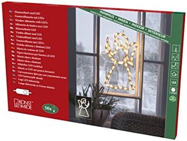 Konstsmide 2173 010 Led Fenstersilhouette Engel 50 Warm Weiße Dioden 230v Innen Weißes Kabel Beleuchtung
