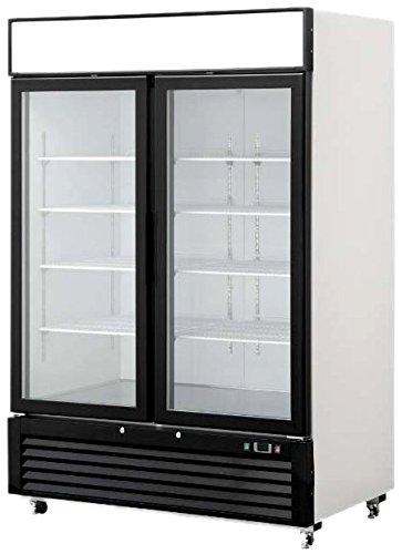 TWO GLASS DOOR COMMERCIAL FREEZER MERCHANDISER 49 CU. FT. by FRIDGCON