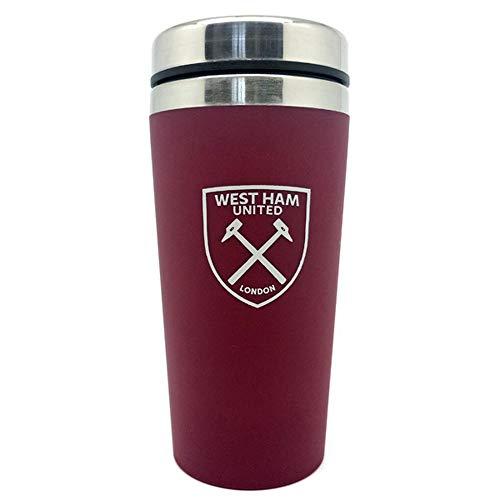 (Spot On Gifts Football Club Aluminium Travel Mug (One Size) (West Ham))