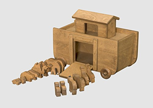 Amish-Made, Handcrafted Wooden Noah's Ark (Including Anim...