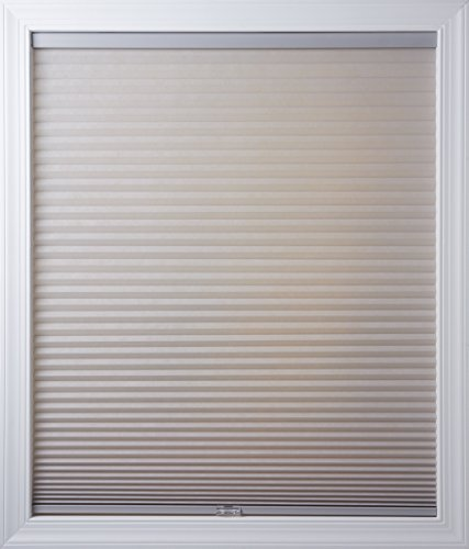 New Age Blinds Light Filtering Inside Frame Mount Cordless Cellular Shade, 18-1/2 x 72-Inch, Gray Sheen