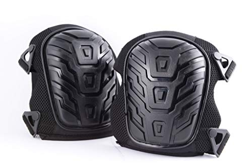 Heavy Duty Knee Pads, Extreme Comfort Gel Cushions, Easy Clip Adjustable Straps, Fits Men & Women with Carry/Storage Bag by ConcealmentClothes