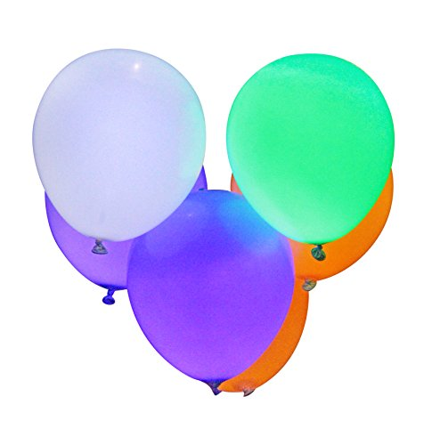 PartyLovers® LED Light up Waterproof Party Balloons Assorted Colors (8 Pk)