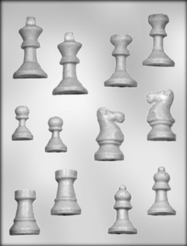 CK Products 3-D Chess Set Chocolate Mold, Garden, Lawn, M...