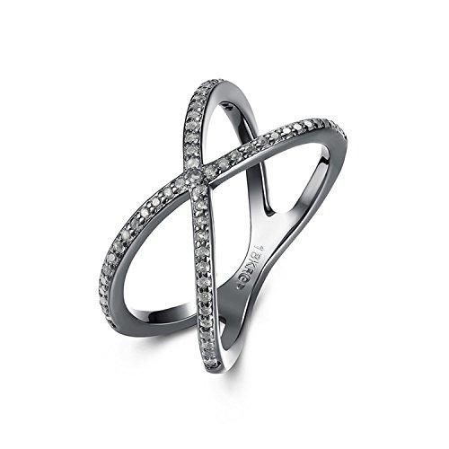 Cross Tacori 18k (Delatcha Cross Shape Zircon Female Jewelry Women engagement Rings for teens)
