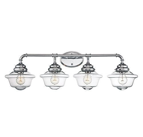 Mediterranean Four Light Vanity (Savoy House 8-393-4-11 Fairfield 4-Light Vanity Bar in Chrome)