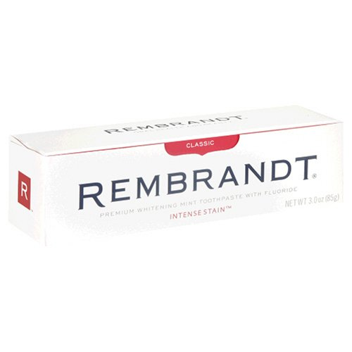 (Rembrandt Toothpaste, Intense Stain Removal, Fresh Mint Flavor, 3 oz )