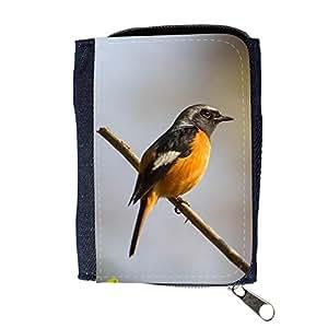 le portefeuille de grands luxe femmes avec beaucoup de compartiments // F00001218 pájaro animal pájaro cantante al aire // Purse Wallet