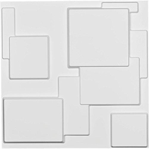 "Ekena Millwork WP20X20GOWH W x 19 5/8"" H Gomez EnduraWall Decorative 3D Wall Panel, White.875 x 19.625 x 19.625 inches"