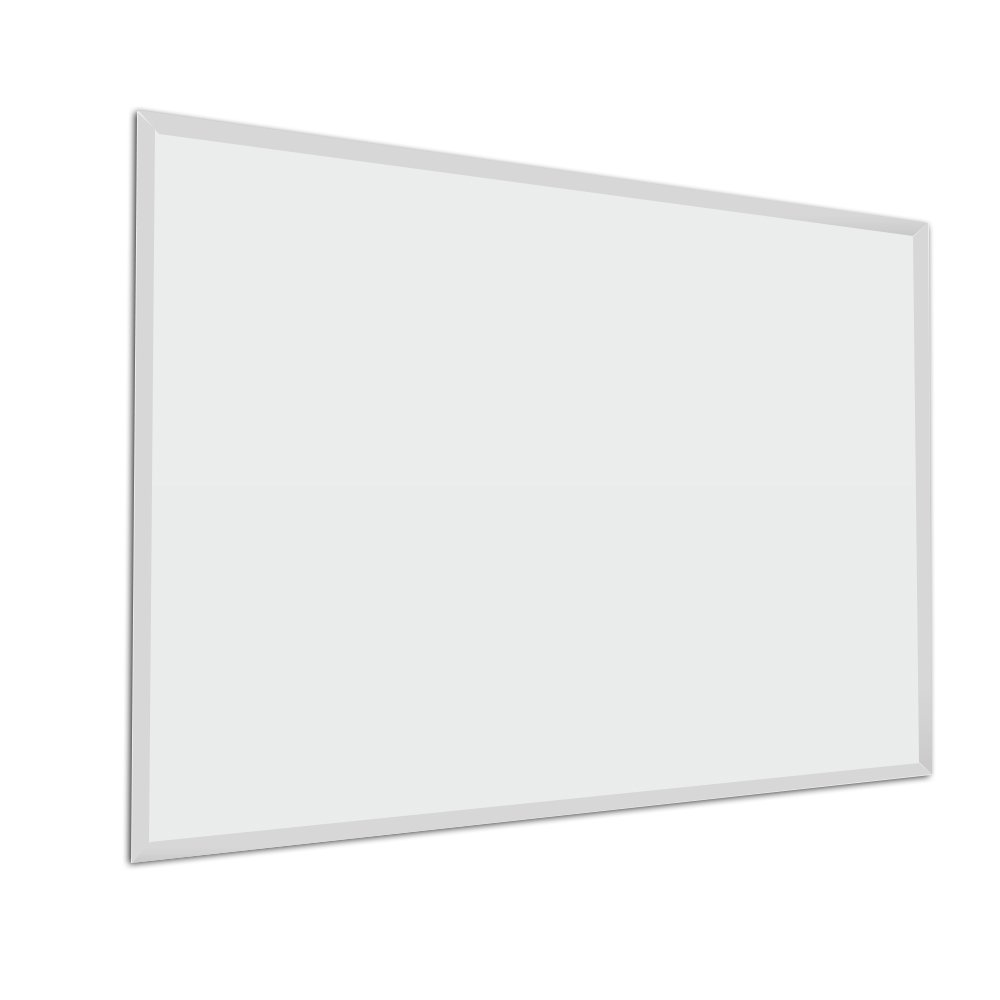 "Fab Glass and Mirror 30"" x 40"" Inch Rectangle Beveled Polished Frameless Wall Mirror with Hooks"