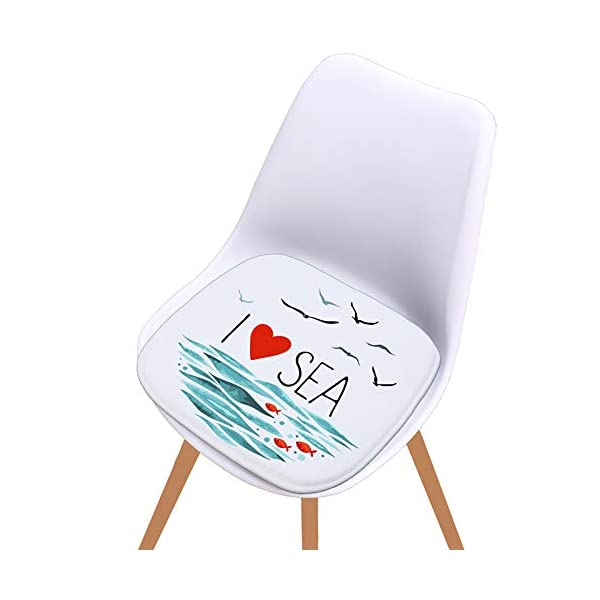 WDOIT - Cuscino per Sedia, particolarmente Imbottito, per mobili in Rattan, da Giardino, Stile 4, 40 * 40cm 6 spesavip