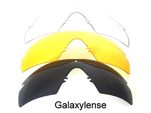 Galaxy Replacement Lenses For Oakley Si Ballistic M Frame 2.0 Z87 - Oakleys And Black Yellow