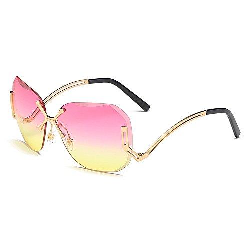 UV la ULTRAVIOLETA para sol de las la tamaño especial con de pierna de marco lente la Gafas de Peggy sin personalidad protección Rosado Gafas señora gran de sol viajando Gu de de conducir para mujeres la qwIzfxS