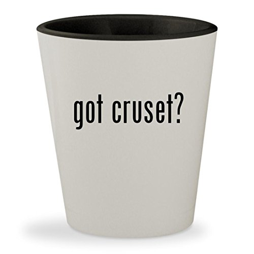 got cruset? - White Outer & Black Inner Ceramic 1.5oz Shot Glass