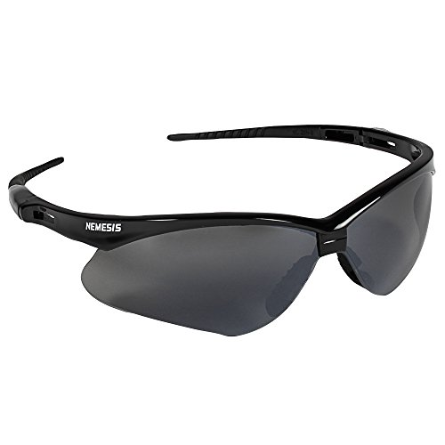 Jackson Safety V30 Nemesis Safety Glasses 25688, Smoke Mirror with Black Frame, (case of - Clean Glasses Frames