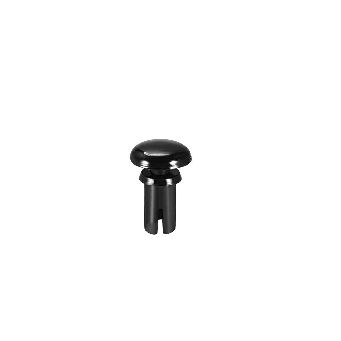 uxcell/® Push Clip Rivet 4mm x 9mm PCB Circuit Panel Nylon Fastener Black 50 Pcs
