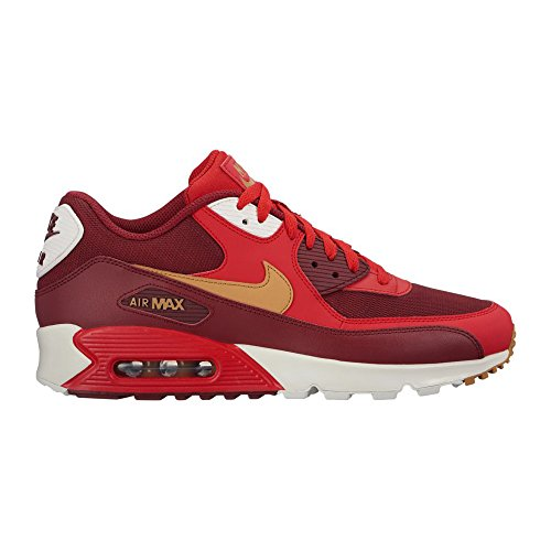 NIKE Mens Air Max 90 Essential Running Shoes Game Red/Elemental Gold/Team Red 537384-607 Size 10.5