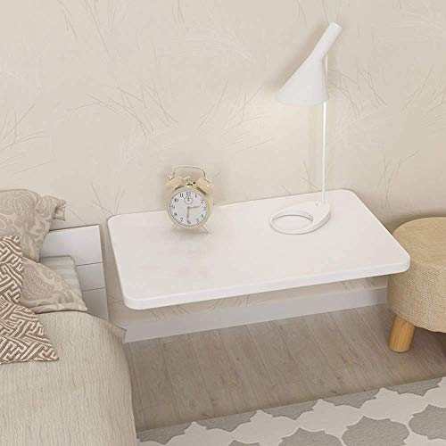 Giow Mesa Plegable pequena de Pared Blanca, extension de Mesa de Comedor de Cocina de Madera Mesa de Escritorio para ninos 120X50cm, X2 Lata Plegable Blanca Puede soportar 10