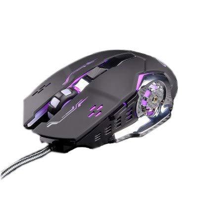 ITMonco Retroiluminación Ratón Gaming Óptico Profesional Cableado Ratones Gaming Ergonómico con dpi Adjustable Definición de la