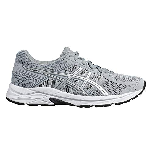 4 Women's Silver Grey Mid Running Shoes 020 Asics Gel Competition Grey Contend q1qadt
