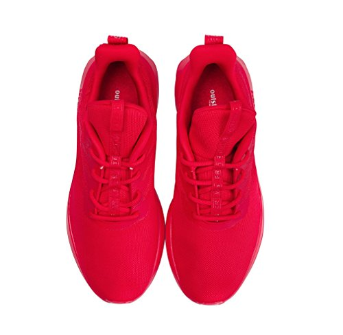 UB Shoes Lightweight Jogging Mesh Sport Red Sneakers Breathable Outdoor Running SOULSFENG Unisex tqxY61tr