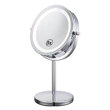 alhakin x espejo de la tabla cosmtica con la luz pulgadas espejo de
