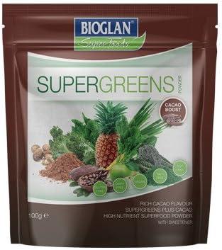 Super Greens Cacao 100 g Concentrado de frutas y verduras con ...