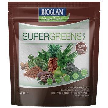 Super Greens Cacao 100 g Concentrado de frutas y verduras con cacao con alto contenido de