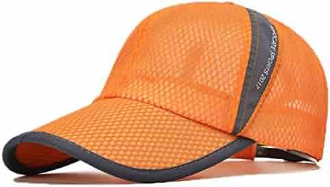 8bec34d0f0b Susclude Men s Outdoor Quick Dry Mesh Cap Adjustable Lightweight Baseball  Hat