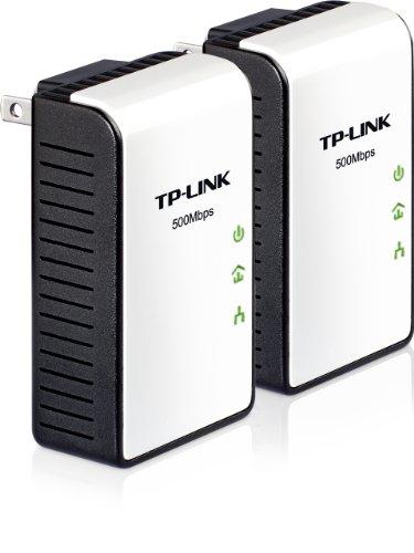 TP-Link TL-PA411 KIT AV500 Mini Powerline Adapter Starter Kit, up to 500Mbps by TP-Link