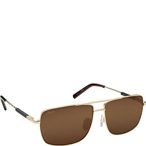 (Hobie Eyewear McWay Sunglasses (Shiny Gold Frame/Copper Polarized Pc Lens))