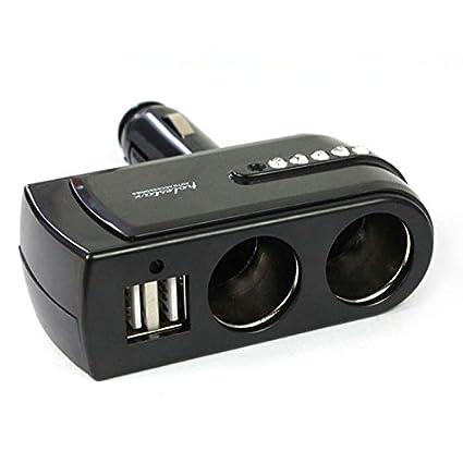 NUEVO 2 USB cargador alimentación + Doble Enchufes Auto de ...