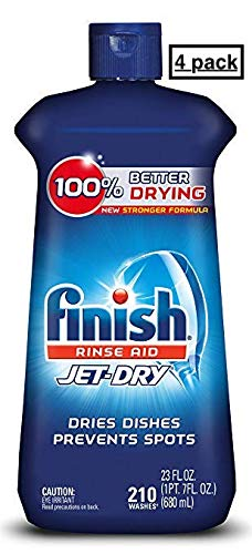 Finish Jet-Dry Rinse Aid, 23oz, Dishwasher Rinse Agent & Drying Agent(4pack)
