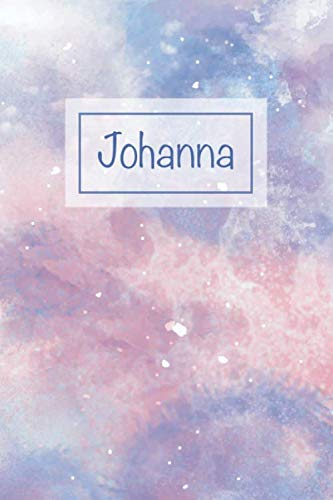 Johanna: First Name Personalized Notebook, College Ruled (Lined) Journal, Cute Pastel Notepad with Marble Pattern for Girls, Teens and Women