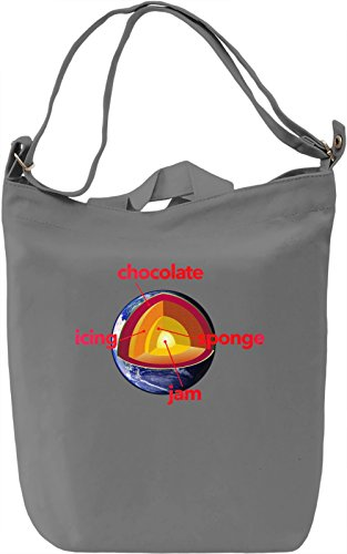 The Earth Is A Cake Borsa Giornaliera Canvas Canvas Day Bag| 100% Premium Cotton Canvas| DTG Printing|