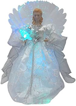 Holiday Time 12in Silver Angel Tree Topper