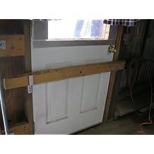 """Drop Open Bar Security Door Lock Brackets Fits 2x4 Boards 1 1/8""""wide"""