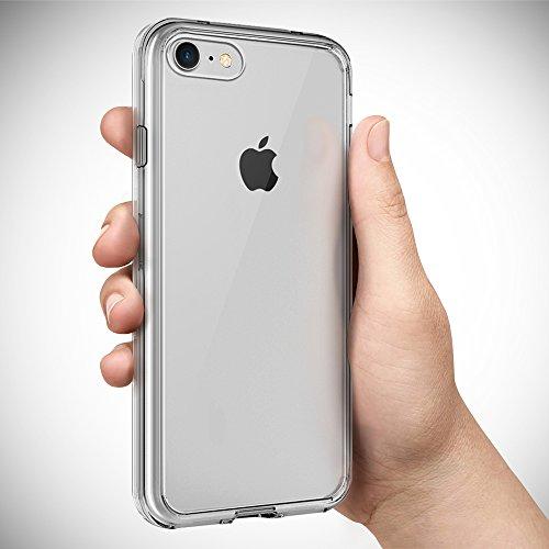 iPhone 7 Hülle, iPhone 8 Hülle BEZ® iPhone 7 Handyhülle Transparent Hybrid Crystal Clear Case Rückschale und Durchsichtige TPU-Bumper Schutzhülle - Klare