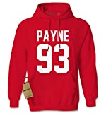 Hoodie Payne 93 Adult Medium Red
