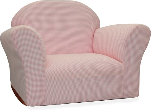 Keet Roundy Rocking Kid S Chair Gingham Pink New Ebay